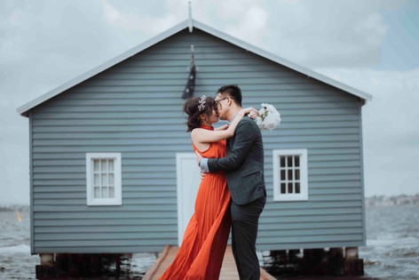 perth wedding photography blue boatshed