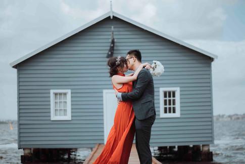 perth wedding photography blue boatshed