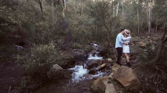 Perth hills engagement session