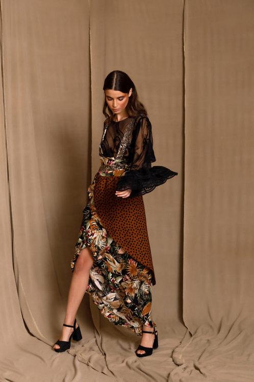 Marquesa Brown Wrap Skirt, The Jerkins