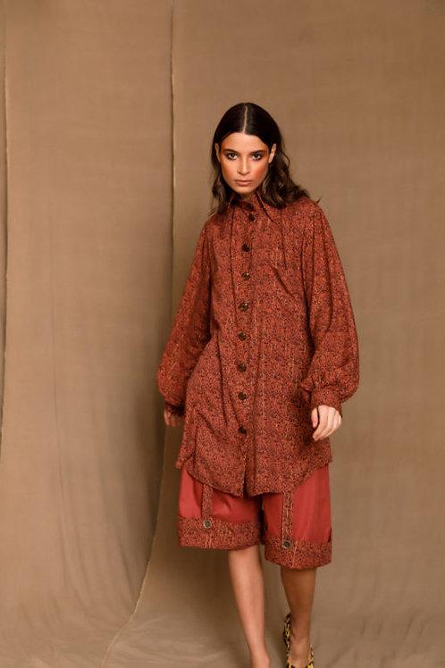 Aymee Rust Red Shirt, The Jerkins