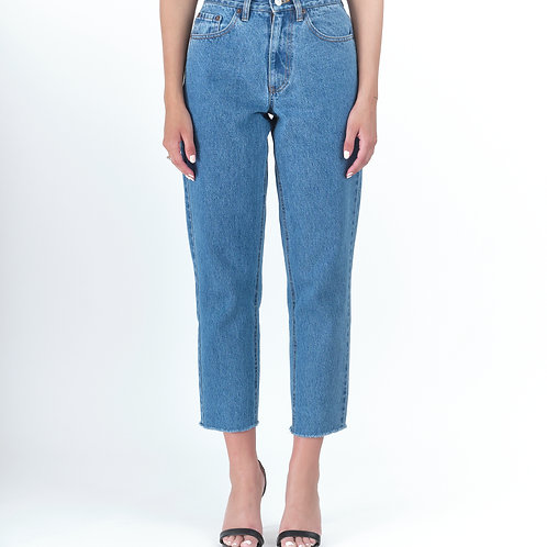 Barbara Medium Cropped, Salt and Pepper Jeans