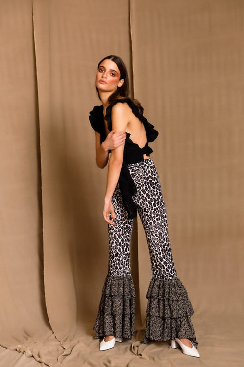 Zamira Black Flared Pants, The Jerkins