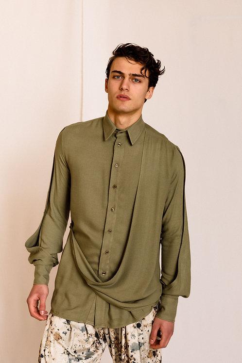 Ibu Layer Shirt Khaki, Dante