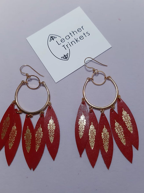 Dreamcatcher Red and Gold