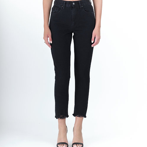 Joan Black Cropped, Salt and Pepper Jeans
