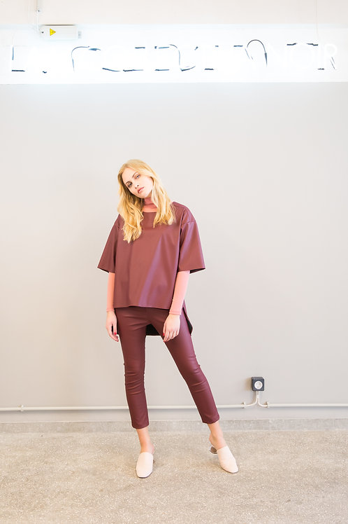 Geneva Tunic Bordeaux, Collectiva Noir