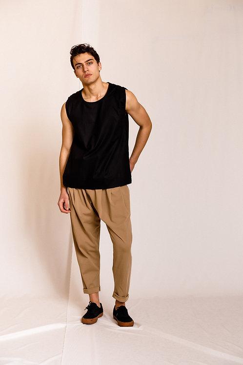 Neat sleeveless Shirt Black, Dante