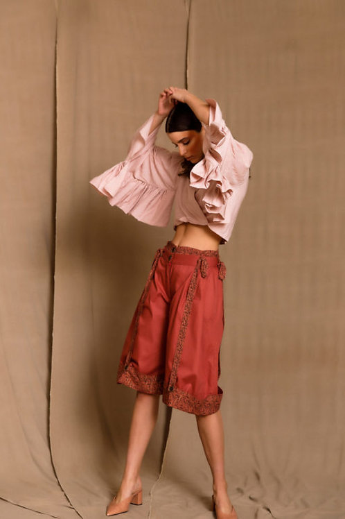Ramira Rust-Red Shorts, The Jerkins