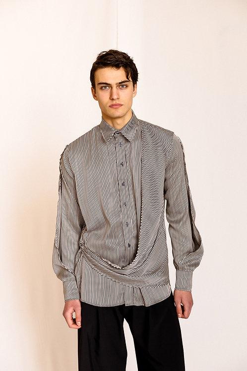Ibu Layer Shirt Striped, Dante