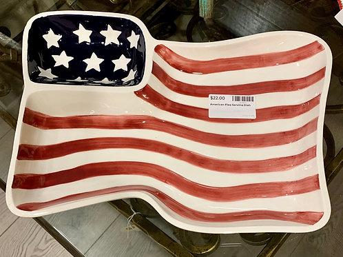 Serving Dish American Flag