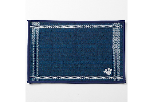 """Tapestry Placemat Navy """"Ticking""""*"""