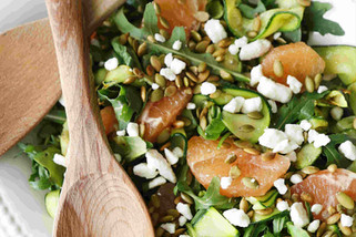 Zucchini Ribbon Salad With Grapefruit Vinaigrette