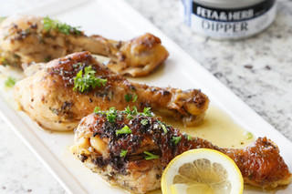 Feta & Lemon Braised Chicken Wings