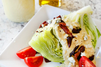 Blue Cheese Dressing With a Classic Wedge Salad