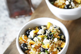 Mango & Blueberry Quinoa With A Citrus Vinaigrette
