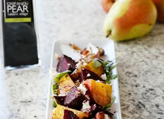Roasted Beet, Pear & Nut Salad