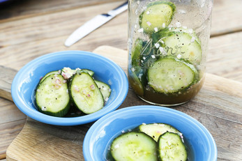 Quick & Tangy Citrus Pickled Cucumbers