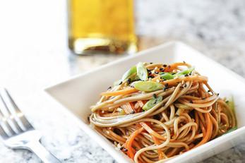 Garlic Sesame Soba Noodle Salad