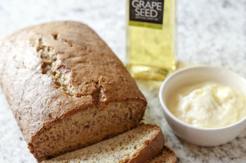 Banana Bread With Whipped Grape Seed Butter
