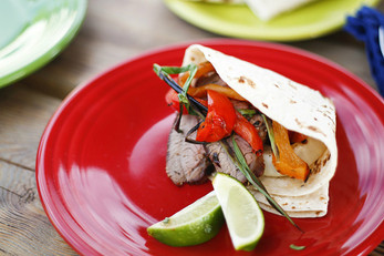 Coffee Rubbed Tri Tip Fajitas