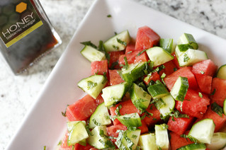 Watermelon & Cucumber Salad With Honey Vinaigrette