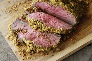 Pistachio & Parmesan Herb Encrusted Beef Tenderloin