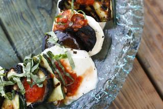 Grilled Eggplant & Zucchini Parmesan