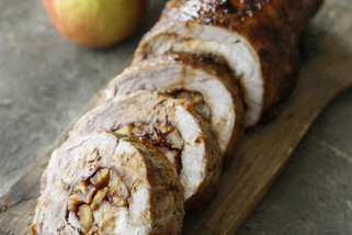 Bourbon Caramel Apple Pork Loin