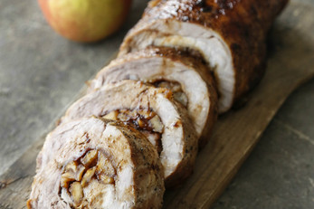 Bourbon Caramel Apple Pork Loin