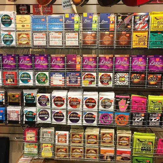 A Variety of Strings  We carry a variety of strings for all instruments!