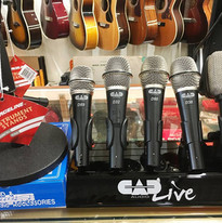 Mics & Mic Supplies  We sell popular brands of microphones and have a variety to choose from along with mic stands!