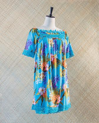 Tepua Blue Floral Print