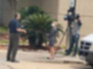 Cuevas being interviewed at Jail April 2