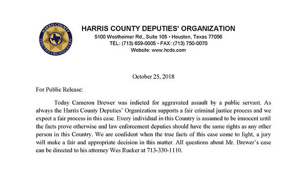 10-25-18 letter Cameron Brewer Inditment