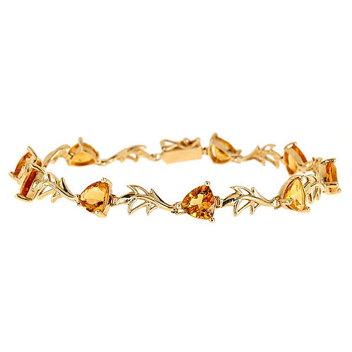 Citrine bracelet 14 karat yellow gold
