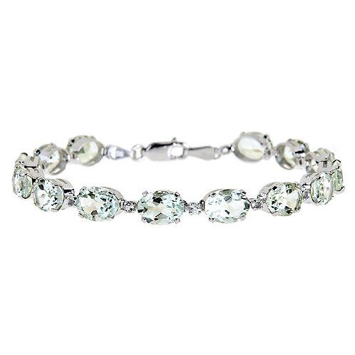 14 karat white gold aquamarine bracelet