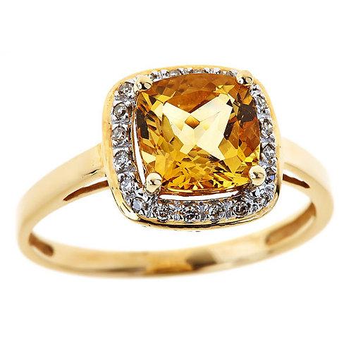 Citrine ring 14 karat  yellow gold