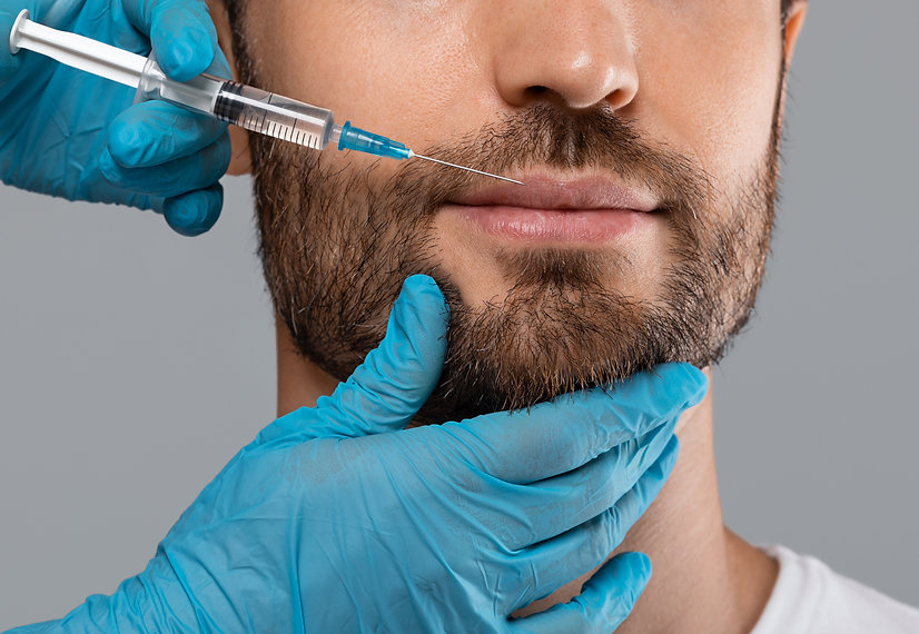 unrecognizable-bearded-man-getting-lips-
