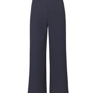 Blauwe wijdere pantalon