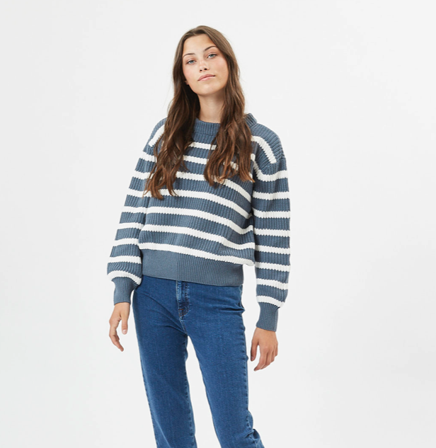gestreepte knit 100% katoen