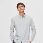 Stretch hemd grijs