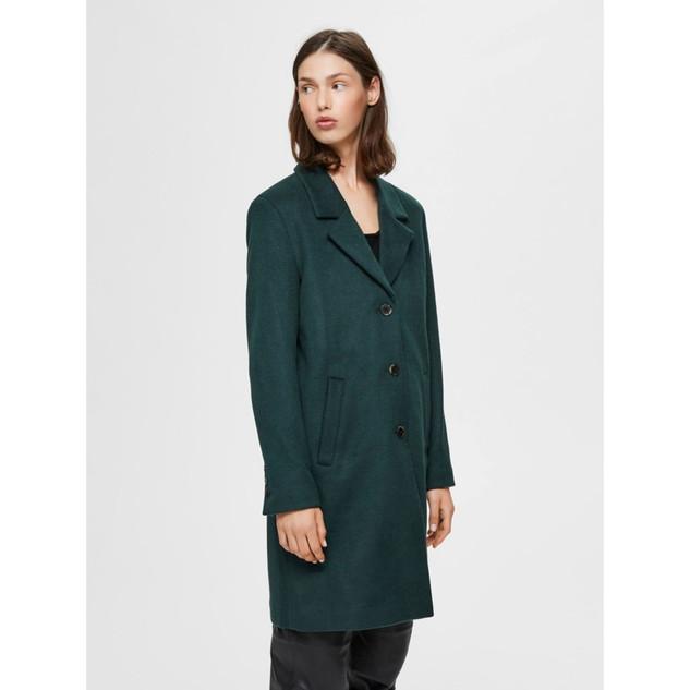Wool coat groen