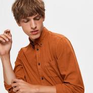Oranje tencel hemd