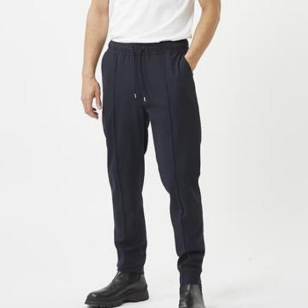Blauwe sportieve pantalon