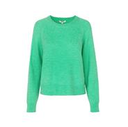 Groen gebreide trui