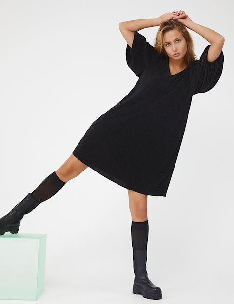 Fijne plisse jurk