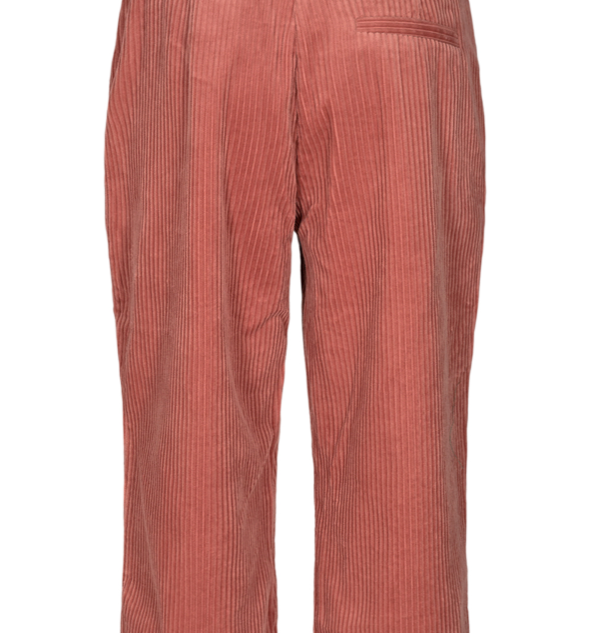 roze rib broek enkellengte