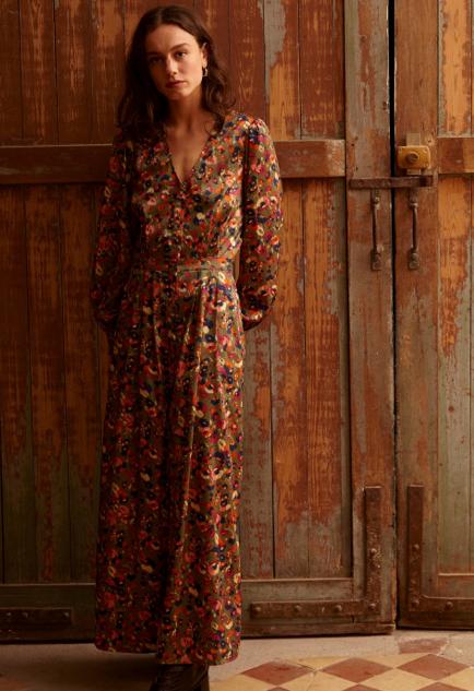 Lange jurk bloemen
