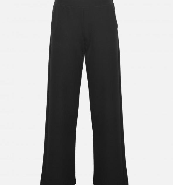 Zwarte wijde pantalon